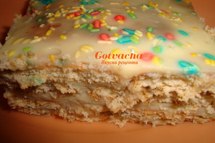 Торта с бисквити и нишесте
