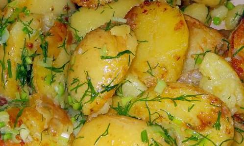 Картофи с копър и масло