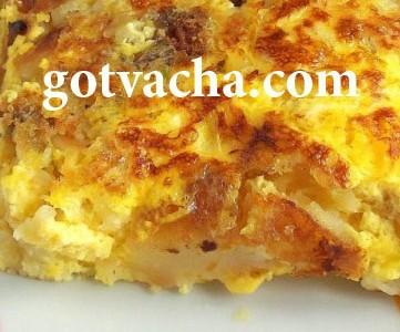 Омлет с картофи и кашкавал