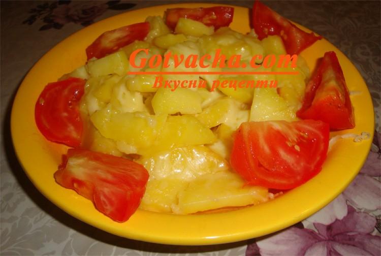 Картофи на фурна с кашкавал
