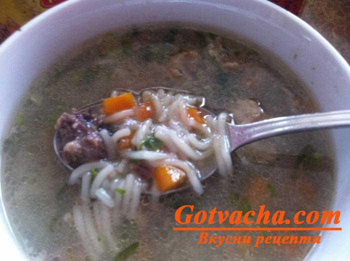 Супа с агнешки дреболии