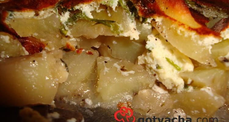 Картофи на фурна със заливка за мусака