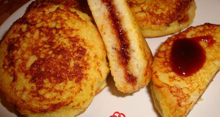 Пържени хлебни кръгчета със сладко - видео