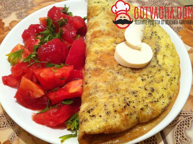 omlet-s-topeno-sirene