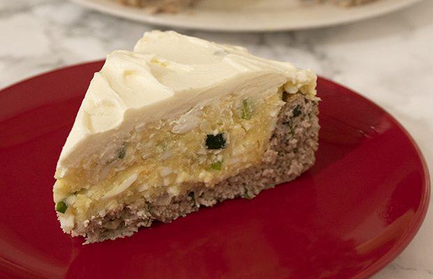 Солен тарт с кайма и картофи